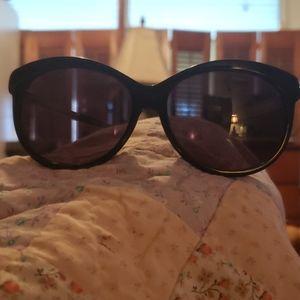 Brighton black sunglasses with silver hardware.
